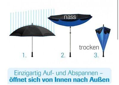 2er Set Regenschirme ☂ Better Brella ☂️ UmstÜlp Technik Technologie ☂️ Schwarz