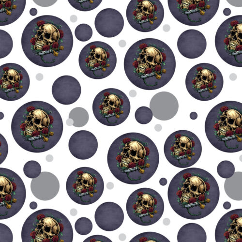 Roses Skull and Dagger Premium Gift Wrap Wrapping Paper Roll