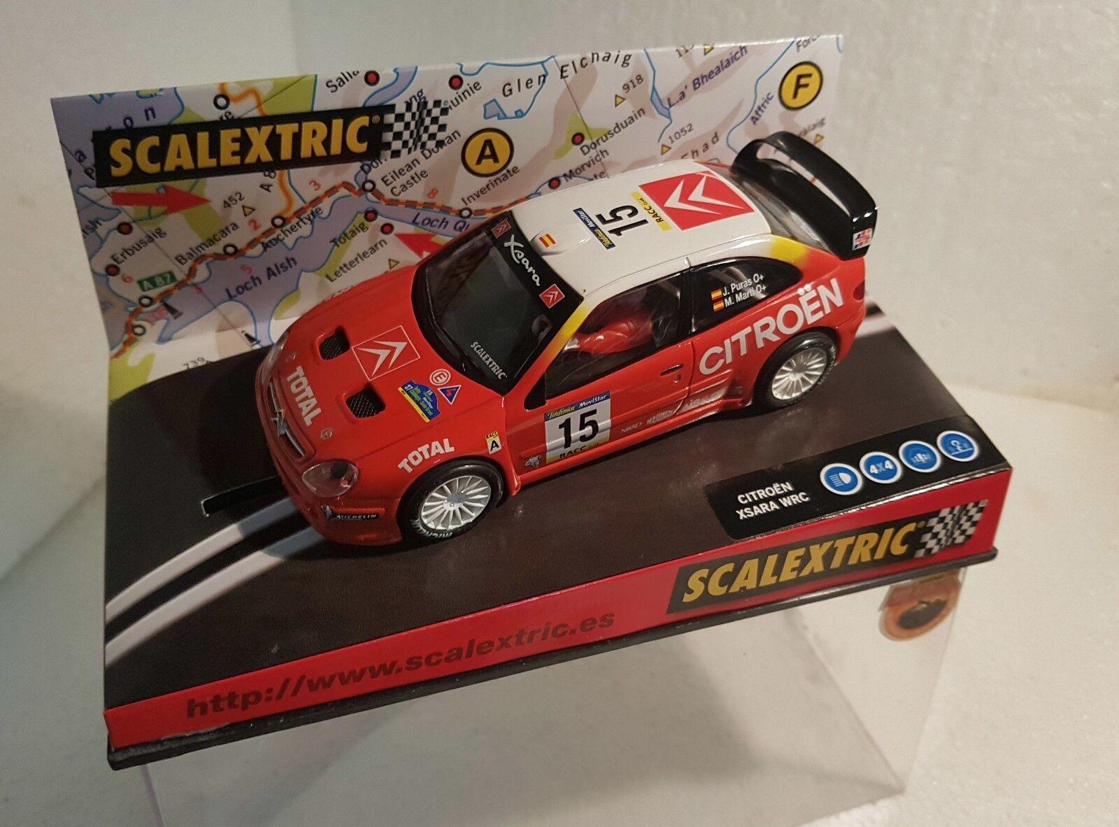 Qq 6077 SCALEXTRIC CITROEN XSARA WRC R COSTA BRAVA '01  15 PURA prese dell'aria