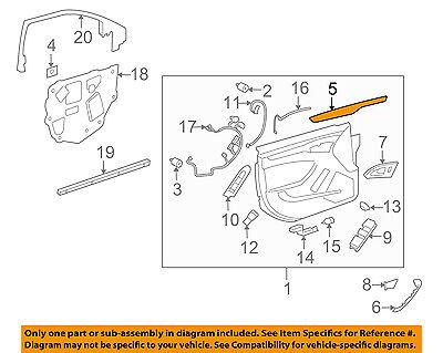 Genuine GM Upper Molding 15243588