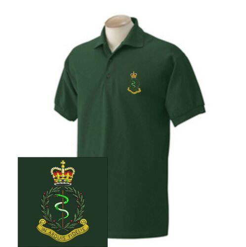 Shirts Army Royal Medical Polo Corps ricamate 0qwd04