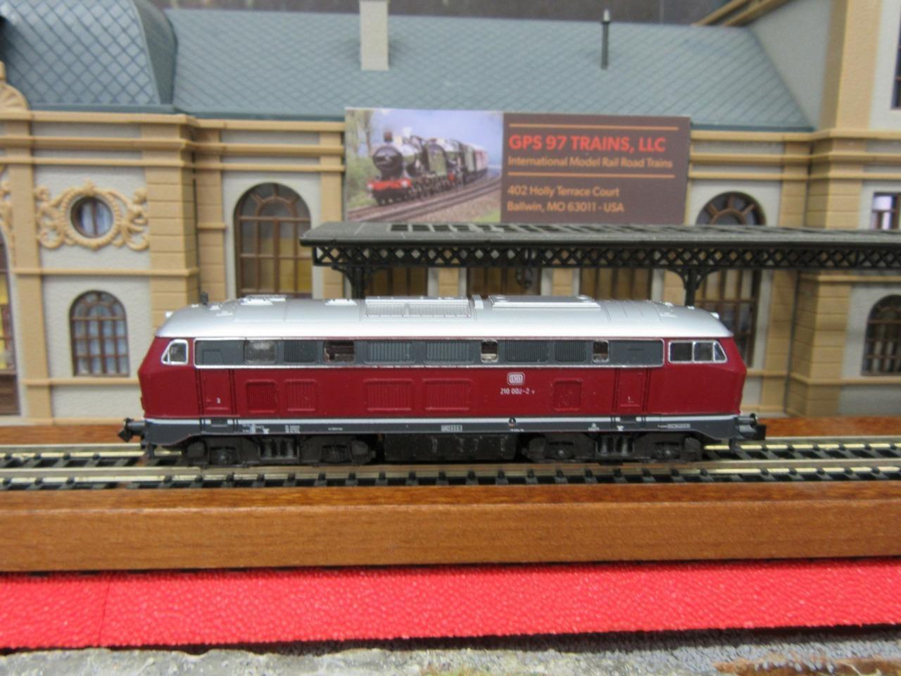 N - Fleischmann 7232 BR 210 002-2 Diesel Loco of the DB - Original Box