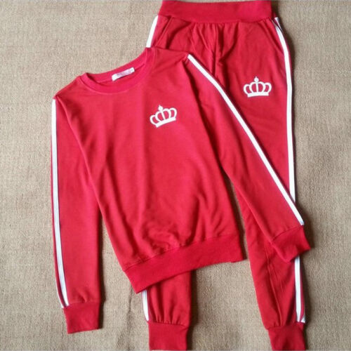 Details about  /Womens Long Sleeve Running Sportswear Tracksuit Fitness Sports Casual Suit 2pcs