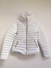 Tokyo Laundry White Puffer Jacket Woman Size 10 Uk Small Padded