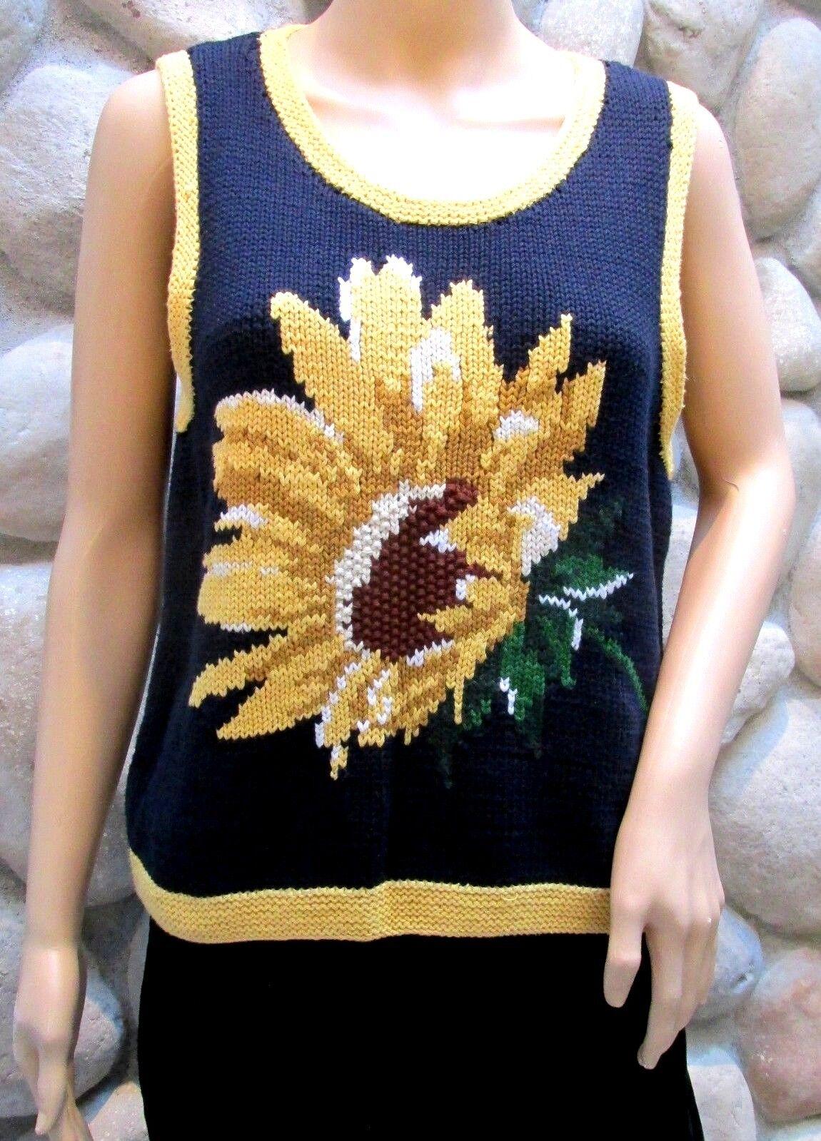 NWT Women's Liz Claiborne Sport golden Summer Cotton Sweater Vest Size L