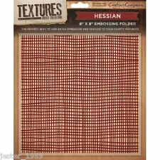 Crafters Companion Textures - 8x8 Embossing Folder - Hessian -  EF5-HES