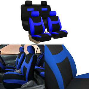 Image Is Loading Car Seat Covers Blue Black Complete Full Set