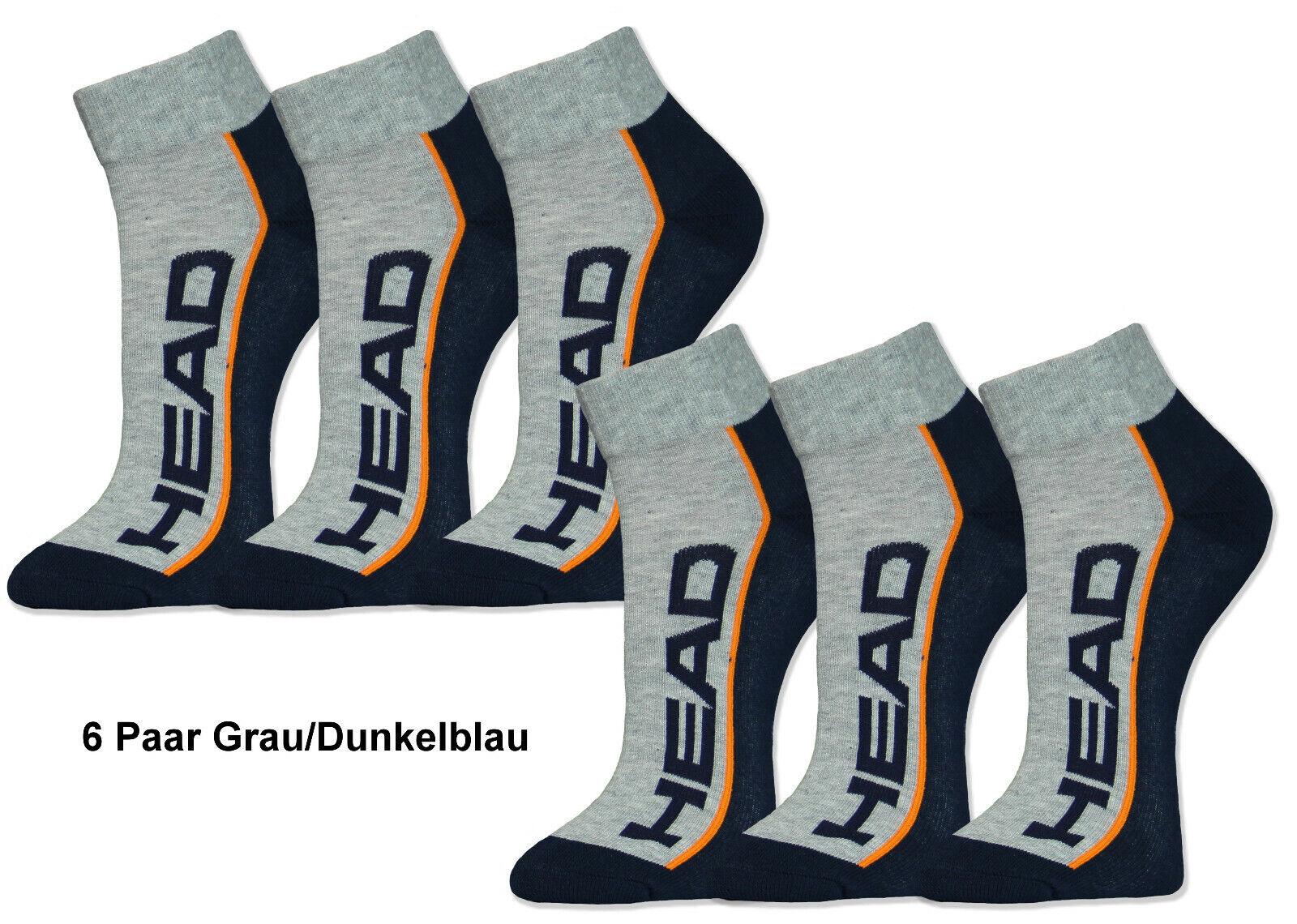 HEAD Sportsocken Quarter Kurzschaft Socken 6 / 12 / 18 / 24 Paar Frotteesohle