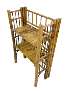 Small-Oriental-Antique-Bamboo-folding-shelves-bookcase-2388L