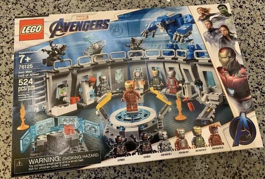 Lego 76125 IRON MAN HALL OF ARMOR Avengers Issue en main US Vendeur