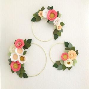 Fashion-Gold-Iron-Metal-Ring-Wreath-Garland-DIY-Bouquet-Flower-Wedding-Decor