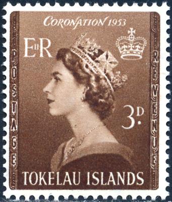 Begeistert Tokelau 1953 Queen Elisabeth, Minr 4 ** Mnh