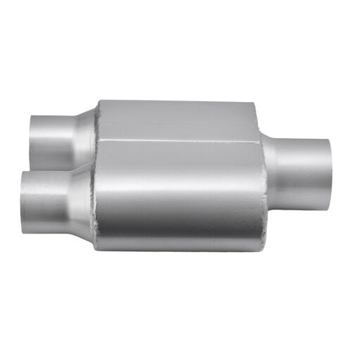 """Performance Race 3/"""" Single Chamber Inlet 2.5/""""Dual Outlet Mufflers Exhaust Truck"""