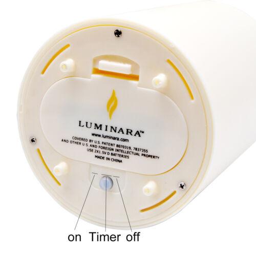 Luminara Flameless Outdoor Pillar Candle Waterproof Unscented Ivory Candles
