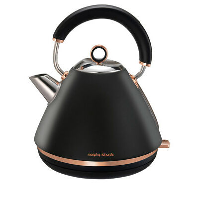 NEW Morphy Richards Accents Rose Gold Collection Kettle: Matte Black 102107
