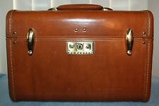 Vintage Brown Samsonite Shwayder Bros. Train Make-up Case 4612 - No Keys - Clean