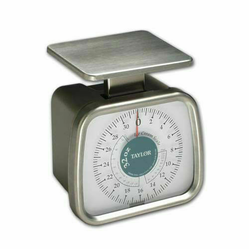 for Ice Cream 32 oz x 1//4 oz Taylor TP32 Mechanical SS Fixed Dial Portion Scale