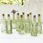 5 Inch Tall Bud Vases Vintage Glass Bottles with Corks Assorted Shapes Mini