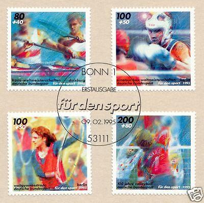 Konstruktiv Brd 1995: Sporthilfe Nr 1777-1780 Mit Sauberem Bonner Ersttags-sonderstempel! 1a