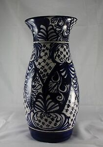 Vintage Pottery Castillo Cobalt Blue Amp White Large Vase