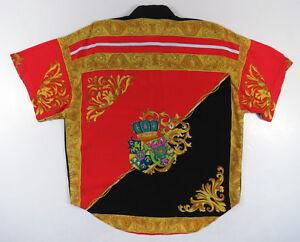 Romantisch Vintage 80er Jahre 90er Barock Rot Gold Royalty Grichischer Krone Farbblock Mit Einem LangjäHrigen Ruf Vintage-mode