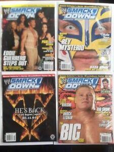 Lot-of-4-WWE-SmackDown-Magazine-2004-Jan-Feb-March-Apr-Mysterio-Lesnar-Guerrero
