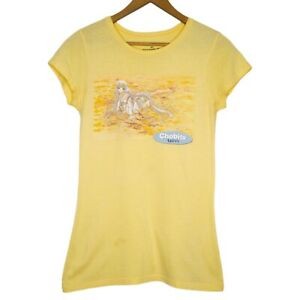 Chobits-Clamp-Anime-Manga-Womens-Yellow-T-Shirt-Size-Small