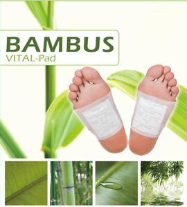 100x-Bambus-Pads-Vitalpflaster-Bambuspflaster-Fusspflaster-Foot-Pads-Fusspads-Fuss