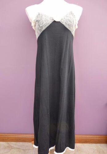 Repose Long Cotton Black Nightdress 48669