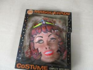 1950-039-S-HALCO-HALLOWEEN-MASK-COSTUME-BOX-FAIRY-PRINCESS-CHILD-MEDIUM