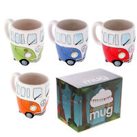 VW Camper Van Shaped Mug Ceramic Novelty Red/Blue/Green/Orange Tea Cup
