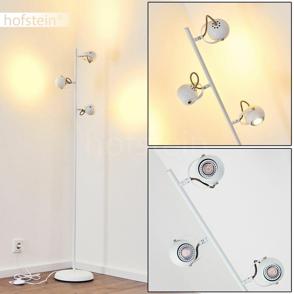 LED verstellbar Steh Boden Stand Lese Leuchte Design Wohn Schlaf Raum Lampe weiß