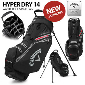 Callaway-Hyper-Dry-14-Waterproof-Stand-Golf-Bag-Black-Charcoal-NEW-2020