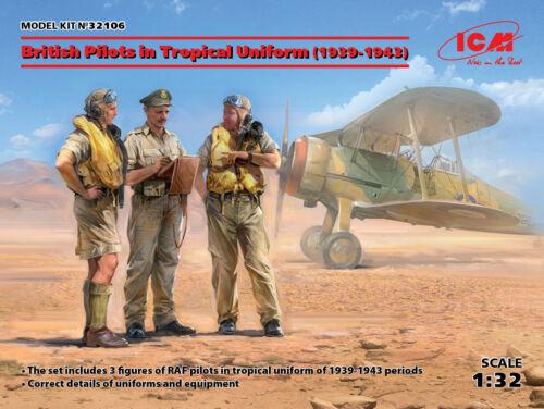 1939-1943 Figuren in 1:32 ICM 32106 British Pilots in Tropical Uniform