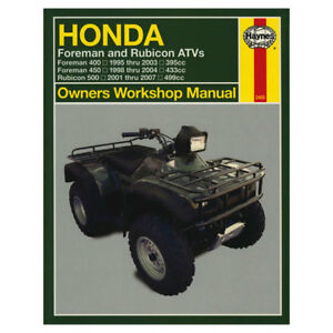 genuine haynes workshop manual 2465 honda trx400 foreman rubicon atv rh ebay co uk Honda Motorcycle Service Manual Helm Service Manuals Honda