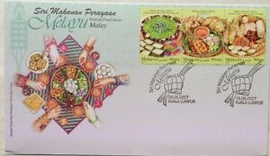 Malaysia FDC with Stamps  (06.06.2017) - Festival Food Series - Malay