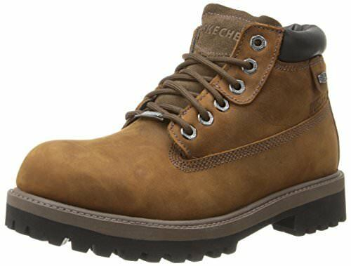 skechers mens boots wide