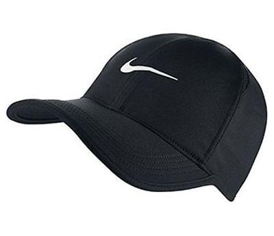 New Nike Dri Fit Feather Light Hat Cap Black White 679421