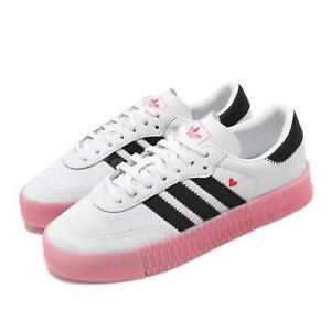 Details about adidas Originals Sambarose W White Black Pink Herat Bold Womens Shoes EF4965