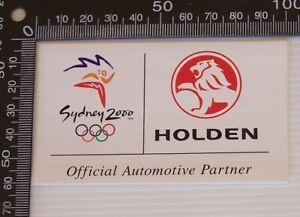 GENUINE-2000-HOLDEN-SYDNEY-OLYMPICS-OFFICIAL-PARTNER-LOGO-STICKER-MERCHANDISE