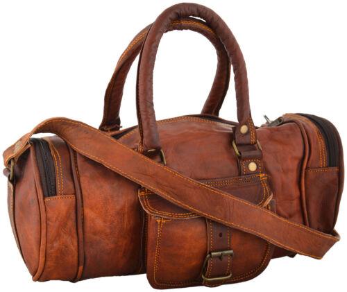 Vintage leather messenger brown goat hide luggage travel bag genuine briefcase