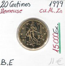 20 CENTESIMI D'EURO DONNA CHE SEMINA 15 000 Ex FRANCIA 1999 Conservazione: BELLE