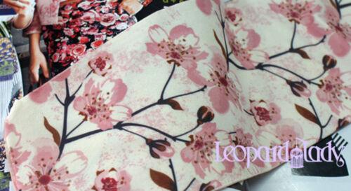 Unique Créateur Rose blanc opaque motif floral tatouage collants Cherry Blossom Collants