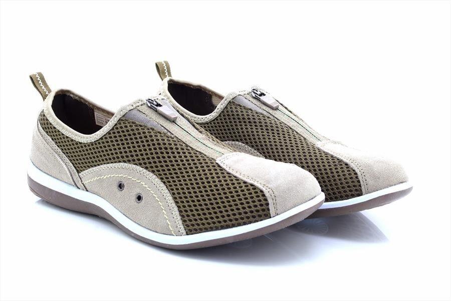 Boulevard L372 Zip/Elastic Gusset Leisure Casual Trainer Shoes
