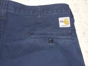 Workrite Carhartt Fr Navy Blue Work Pants Free Shipping Ebay