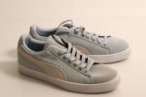 chaussures de sport 4d029 722a8 Details about Girl's Puma Suede pale blue suede trainer UK 5 Ex-Display  (suedfogy026034)