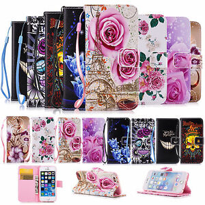 Wallet-Magnetic-Leather-Flip-Phone-Case-Cover-Stand-for-Apple-iPhone-Samsung
