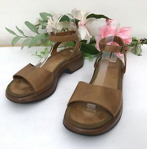 Dansko-Lara-Leather-Sandals-sz-40-EU-Ankle-Strap-Platform-9-5-10-US