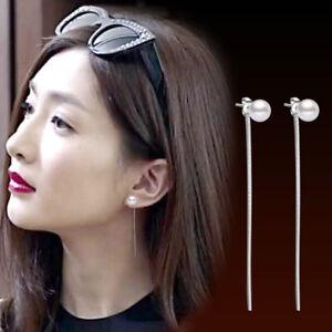 Sparkle-Women-925-Sterling-Silver-Jewelry-Long-Drop-Dangle-Stud-Earrings-Gifts