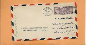 US-C16-Primer-Vuelo-Peoria-Celebra-Aviacion-Semana-May-21-1931-Firmado